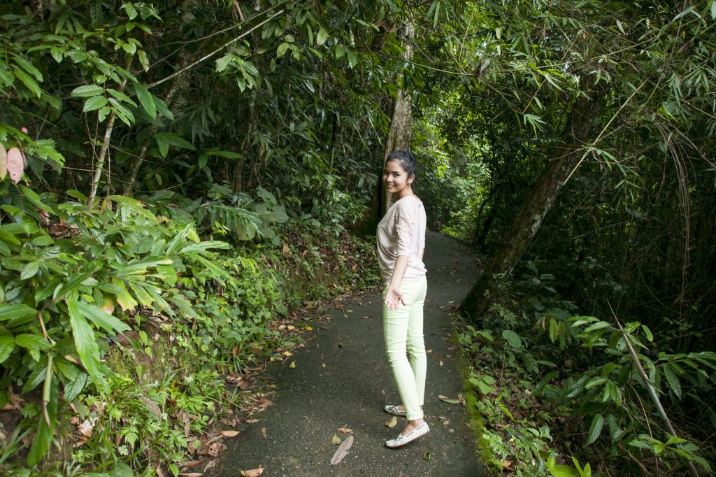 One kilometre trail to Haew Narok Waterfall