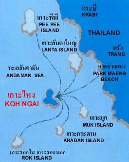 Koh Ngai Map