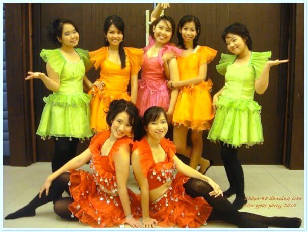 When I was working at a company, we had a dancing show and I was one of the crews. It was a good memory. :)