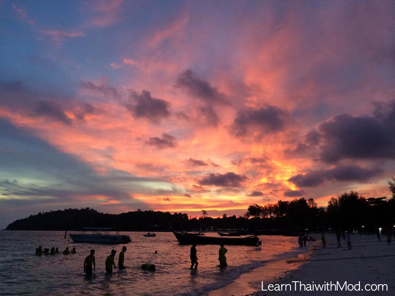 Sunset in Pattaya beach, one of the most beautiful sunsets I have ever seen in Thailand